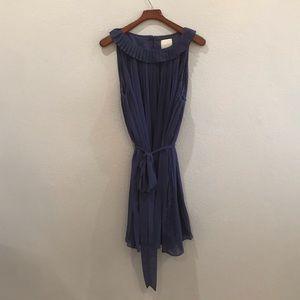 NWT ModCloth | navy blue pleated dress size 2x
